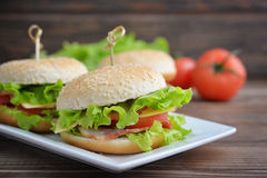 Burger with bacon Stock Image