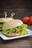 Burger with bacon Royalty Free Stock Photos
