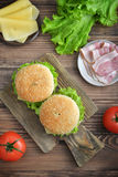 Burger with bacon Stock Photography