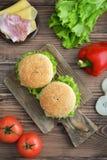 Burger with bacon Stock Photos