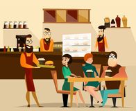Burger bar concept vector illustration Stock Photography