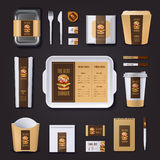 Burger Bar Corporate Identity Royalty Free Stock Photo