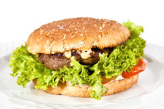 Burger with beef Stock Images