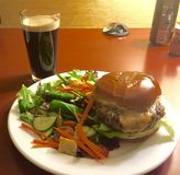 Burger and Beer Stock Image