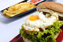 Burger with black pepper Royalty Free Stock Image