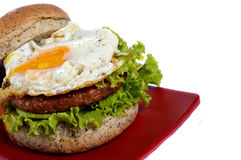 Burger with black pepper Stock Image