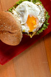 Burger with black pepper Royalty Free Stock Photo