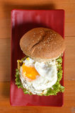 Burger with black pepper Royalty Free Stock Photography