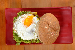 Burger with black pepper Stock Photography