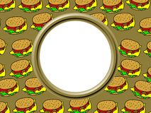 Burger Border Royalty Free Stock Images