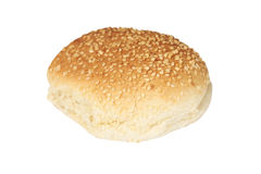 Burger bun. An isolated burger bun on a white background Royalty Free Stock Photography