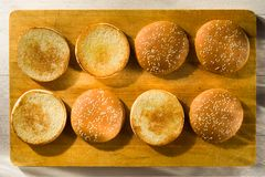 Burger buns with sesame seeds Royalty Free Stock Photography