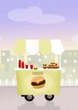 Burger cart Stock Images