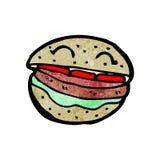 Burger cartoon character Stock Photography