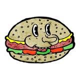 Burger cartoon character Stock Images