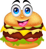 Burger cartoon characters Royalty Free Stock Photography