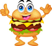 Burger cartoon characters Royalty Free Stock Images