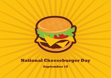 National Cheeseburger Day vector Stock Photos
