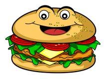 Burger cartoon Stock Photography