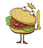 Burger cartoon Royalty Free Stock Photos