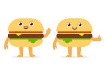 Burger character Royalty Free Stock Photos