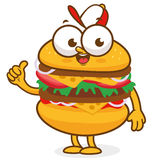 Burger character Stock Images