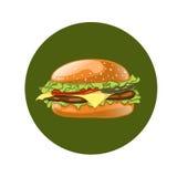 Burger. Cheeseburger vector illustration. Hamburger icon. Fast food. Royalty Free Stock Photo