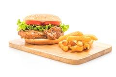burger chicken grilled στοκ φωτογραφίες με δικαίωμα ελεύθερης χρήσης