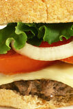 Burger close up Stock Photography