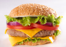 Burger close-up Royalty Free Stock Photos