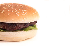 Burger closeup Royalty Free Stock Photo