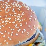 Burger closeup Royalty Free Stock Image