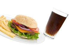 Burger & Cola Stock Photography