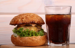 Burger and cola Royalty Free Stock Photos