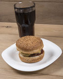 Burger and cola Royalty Free Stock Image