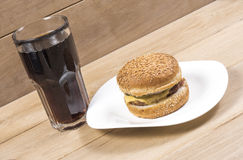 Burger and cola Stock Photo