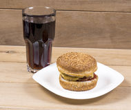 Burger and cola Stock Image