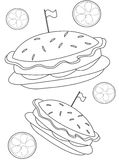Burger coloring page Royalty Free Stock Images