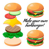 Burger constructor Royalty Free Stock Images