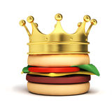 Burger with crown Stock Images