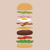 Burger customization Royalty Free Stock Photos