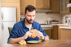 This burger is delicious Stock Photo