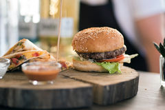 Burger with dietetic meat Royalty Free Stock Photo