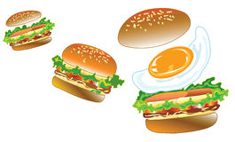 3 burger Royalty Free Stock Image