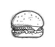 Burger Doodle Royalty Free Stock Image