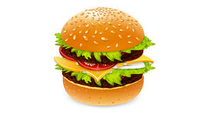 Burger drink and french fries Royalty Free Stock Photography