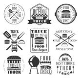 Burger and Fast Food Icon Set Stock Photos