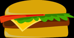 Burger, Fast Food, Junk Food Royalty Free Stock Images