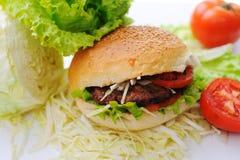 Burger, fast food, preparing Stock Photography