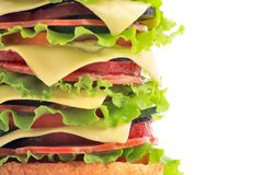 Burger fat Stock Images